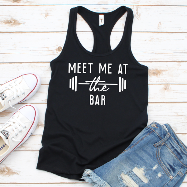 Meet me at the Bar Women's Tri-Blend Racerback Tank