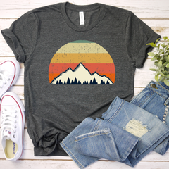 Sunset Mountains Unisex Jersey Short Sleeve Tee