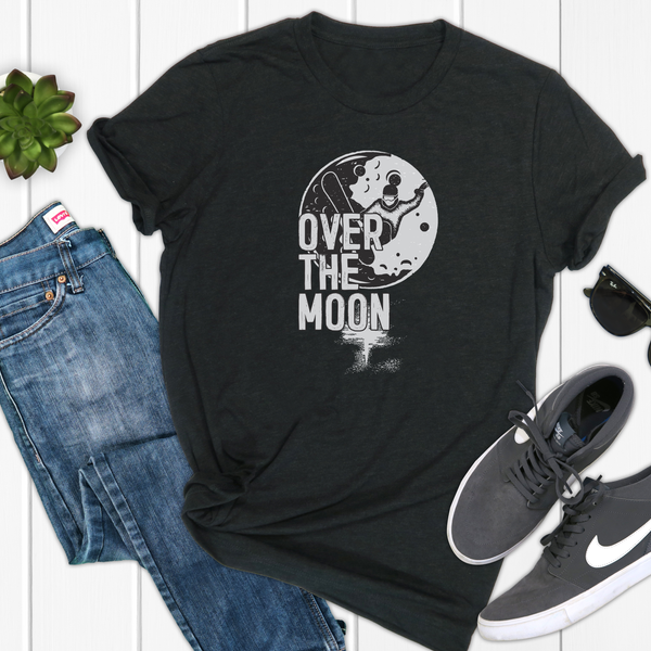 Over The Moon Snowboarding Unisex Jersey Short Sleeve Tee
