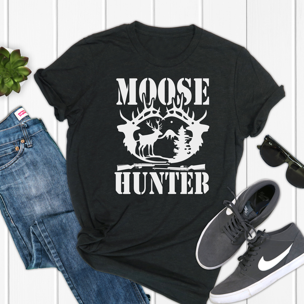 Moose Hunter Unisex Jersey Short Sleeve Tee