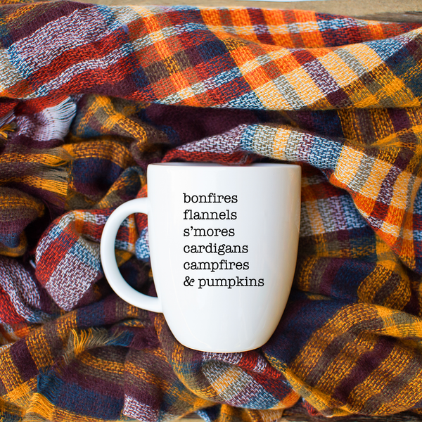 The Ultimate Fall List Latte mug