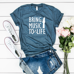 Bring Music To Life Jersey Short Sleeve Tee