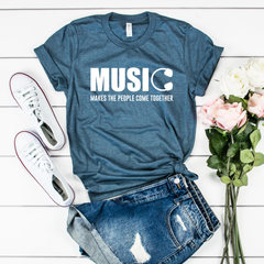 Music Makes the People Come Together Jersey Short Sleeve Tee