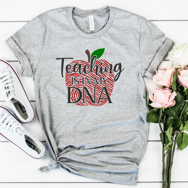 Teaching is in my DNA Unisex Jersey Short Sleeve Tee