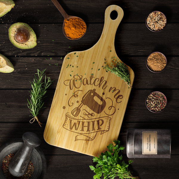 Watch me Whip Decorative Cutting Board