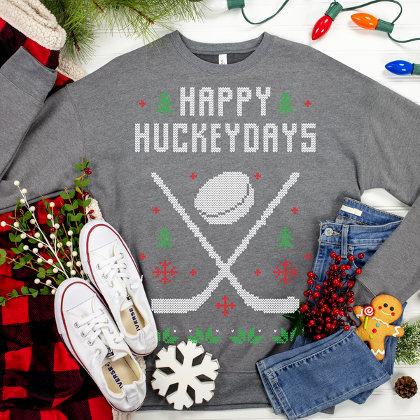 Happy Hockeydays Ugly Christmas Sweater