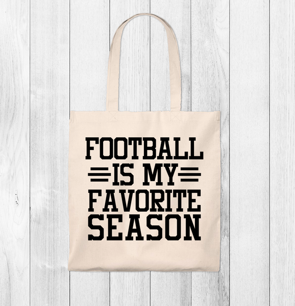Football is my Favorite Season Tote Bag - Vintage