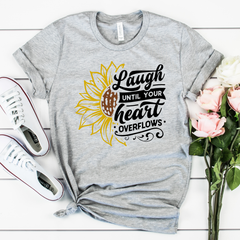 Laugh until your heart overflows Unisex Jersey Short Sleeve Tee