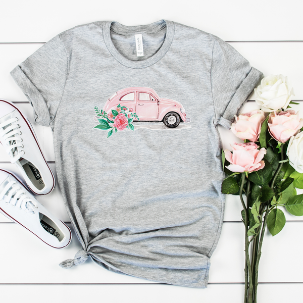Watercolor Car Unisex Jersey Short Sleeve Tee