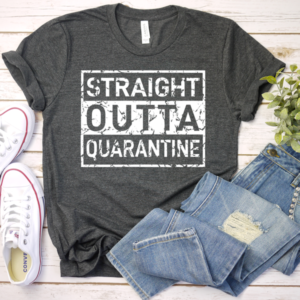 Straight Outta Quarantine Unisex Jersey Short Sleeve Tee