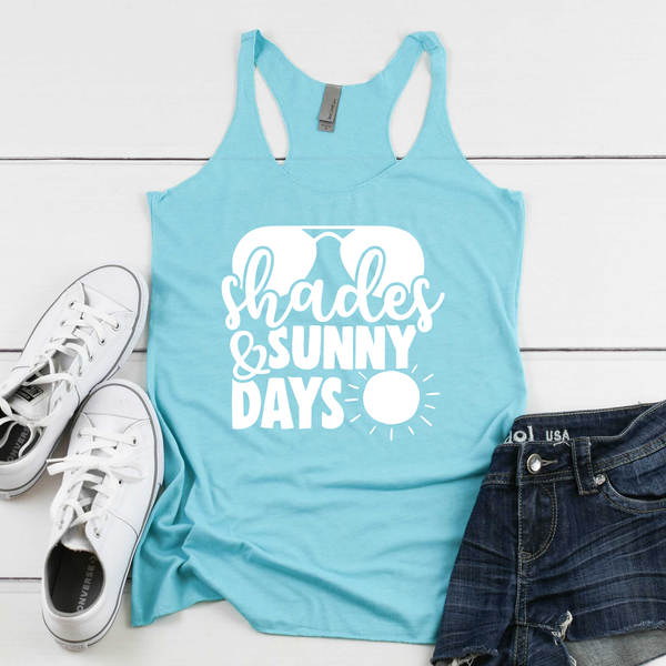 Shades and Sunny Days Women's Tri-Blend Racerback Tank