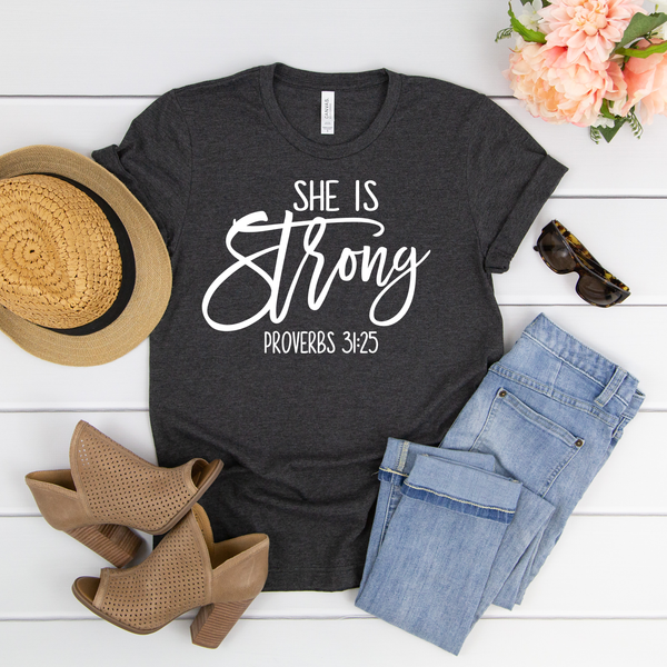 She is Strong Unisex Jersey Short Sleeve Tee