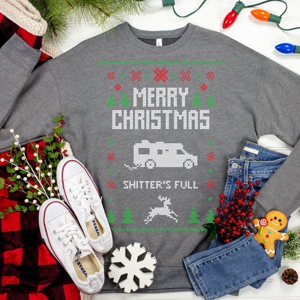 Merry Christmas Shitters Full Ugly Christmas Sweater