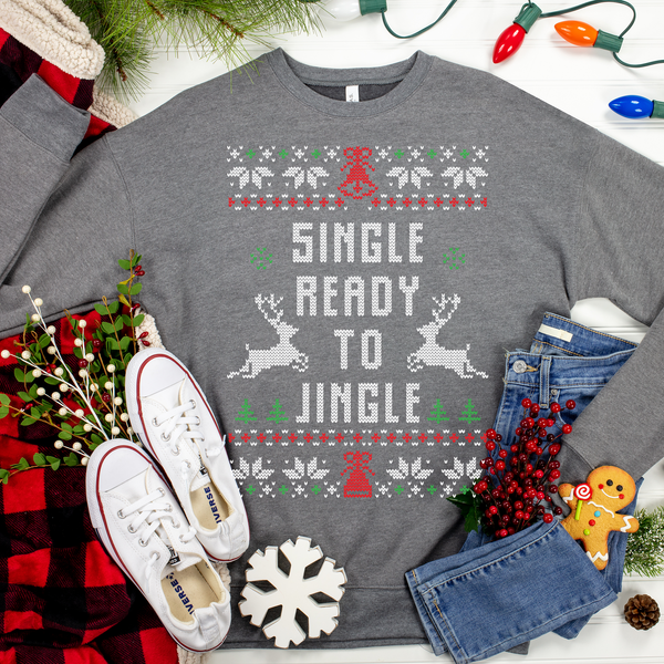 Single Ready to Jingle Sweater Ugly Christmas Sweater