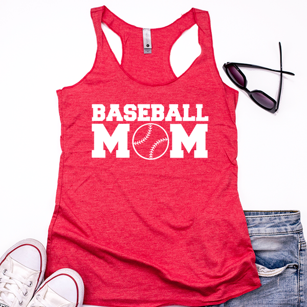 Baseball Mom Women's Tri-Blend Racerback Tank