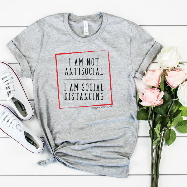 I am not Antisocial, I am social distancing Unisex Jersey Short Sleeve Tee