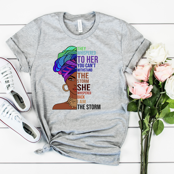She became the storm Unisex Jersey Short Sleeve Tee