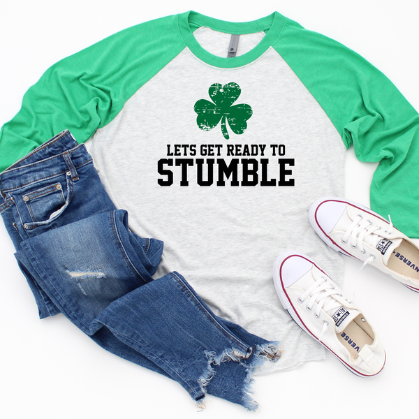 Lets Get Ready To Stumble Unisex Tri-Blend 3/4 Raglan Tee