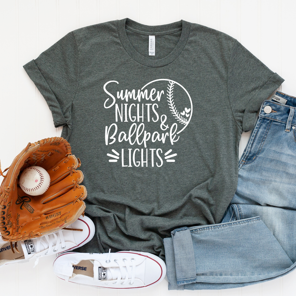 Summer Nights and Ballpark Lights Unisex Jersey Short Sleeve Tee