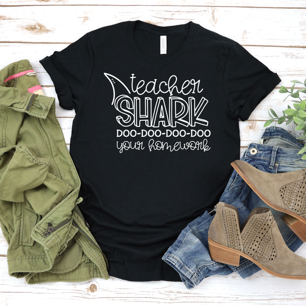 Teacher Shark Unisex Jersey Short Sleeve Tee
