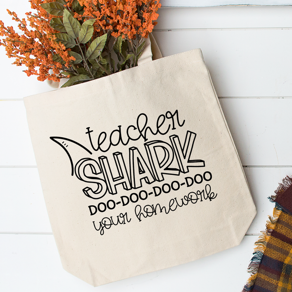 Teacher Shark Tote Bag - Vintage