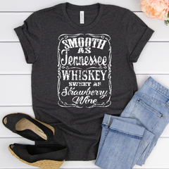 Smooth as Tennessee Whiskey Unisex Jersey Short Sleeve Tee