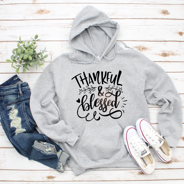Thankful and Blessed Unisex Heavy Blend Hooded Sweatshirt