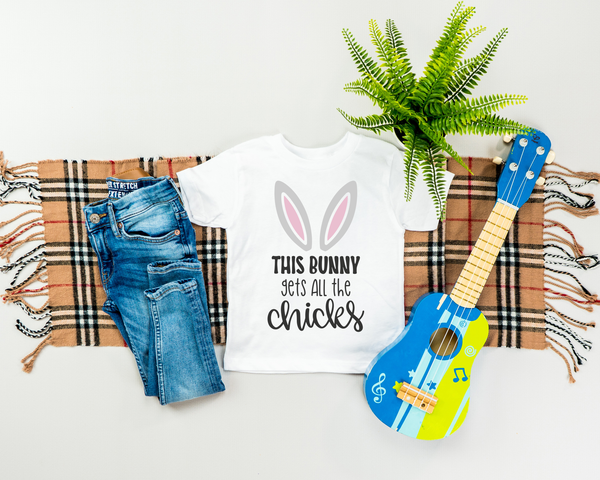 This Bunny Gets All The Chicks Infant Fine Jersey Tee