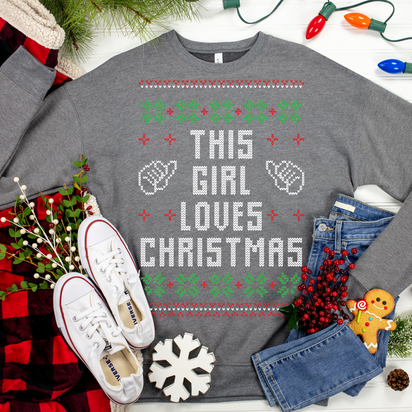 This Girl Loves Christmas Ugly Christmas Sweater