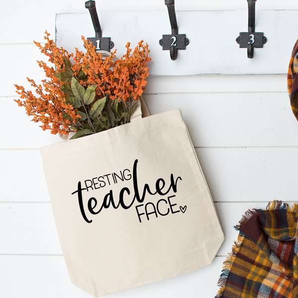 Resting Teacher Face Tote Bag - Vintage