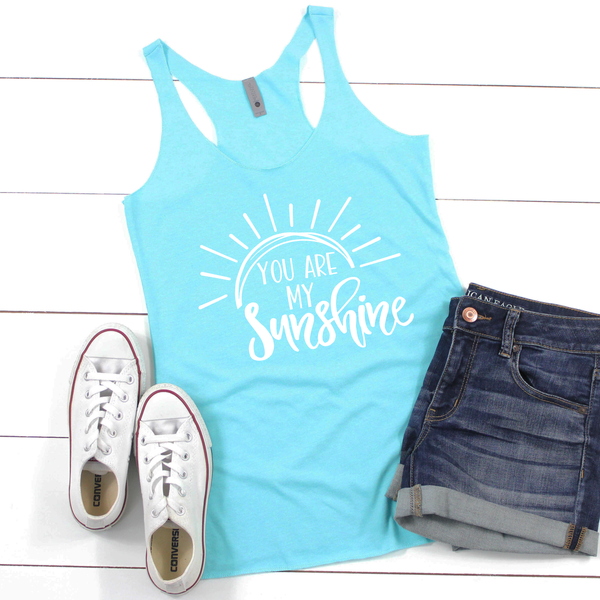 You are my Sunshine Women's Tri-Blend Racerback Tank