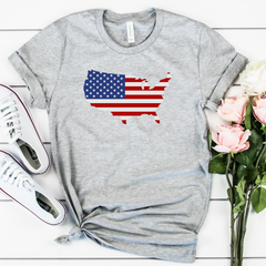 American Flag USA Unisex Jersey Short Sleeve Tee