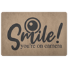 Smile You're on Camera Doormat
