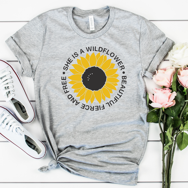 She is a Wildflower Unisex Jersey Short Sleeve Tee