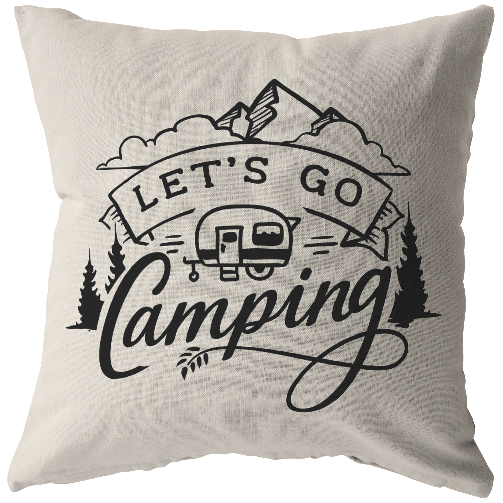 Let's Go Camping Pillow