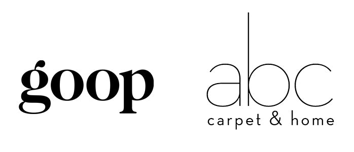 logos goop and abc carpet and home