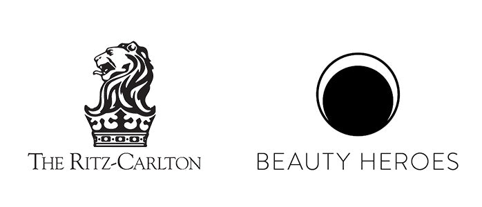logos beauty heroes and the ritz-carlton