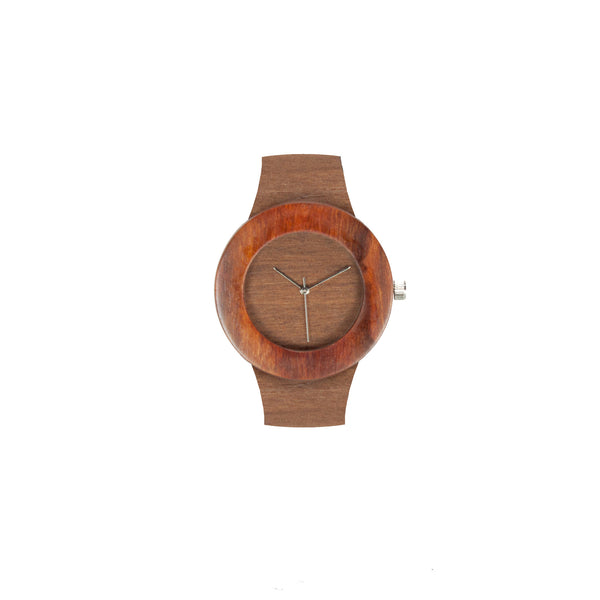 Analog Wooden Watch - Makore & Red Sanders