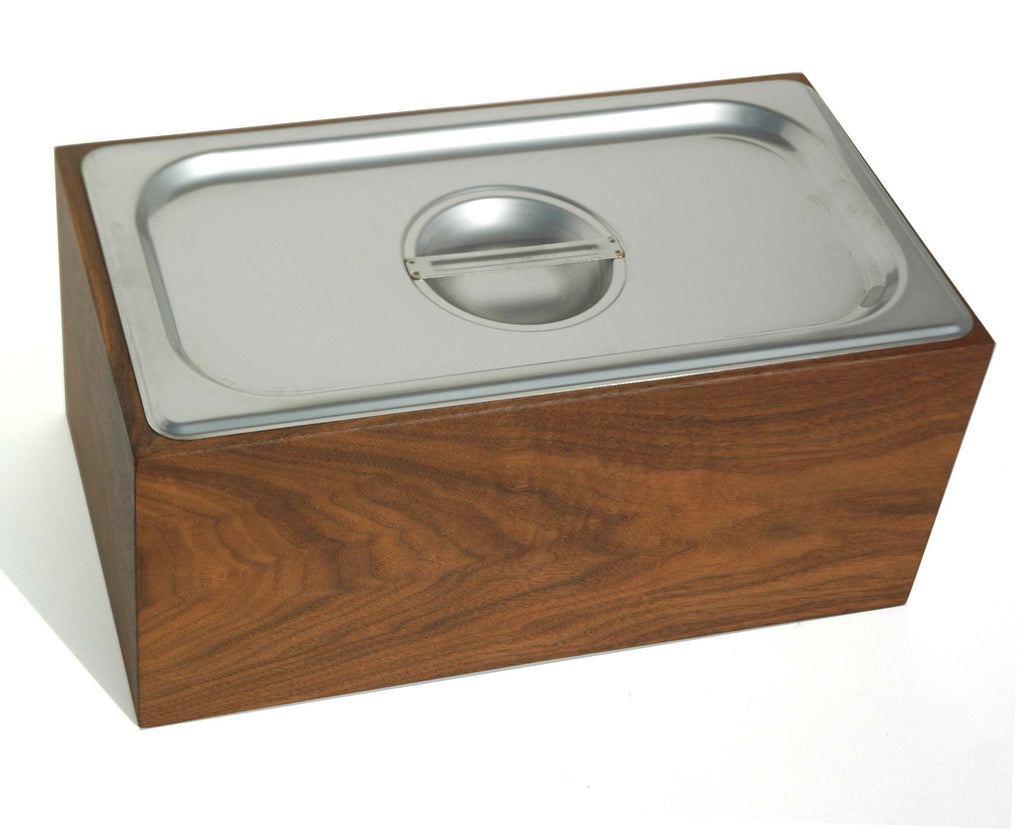 Noaway Countertop Compost Bin in Walnut
