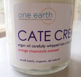 Cate Cream- All Natural, Organic Argan Oil Body Whip with Orange Blossom & Vanilla Essential Oils