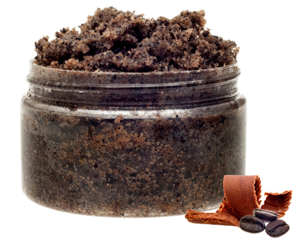 Chocolate Mousse Coffee Sugar Scrub, Cellulite Fighting Body Polish. Vegan. Edible. Made with Organic Sugar & Oils. Chocolate Lovers Gift.