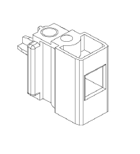PVC roller block , female