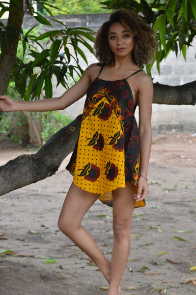 Maua 'Flower' Mini Khanga Dress