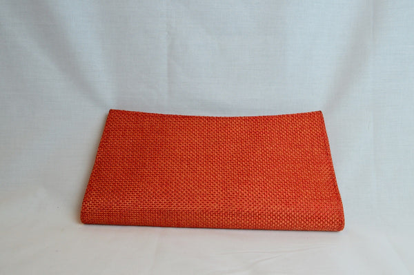 Kitenge clutch - Orange - Woven
