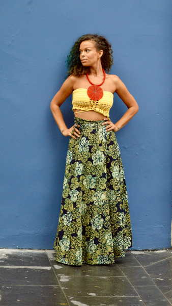 Wrap Around Batik Skirt