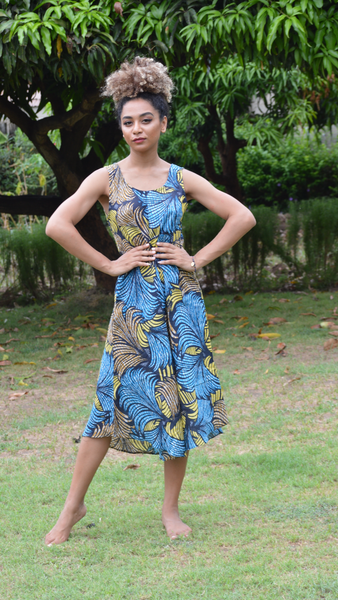 Majani Kitenge Dress