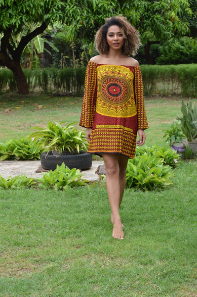 Mandala Mini Khanga Dress
