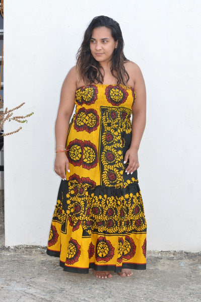 Mrembo Tube Khanga Maxi Dress