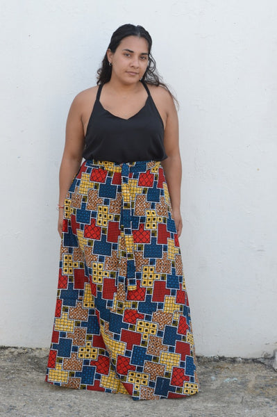 Wrap Around Kitenge Skirt