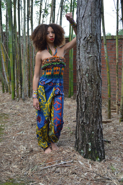 Mixed print Jumpsuit